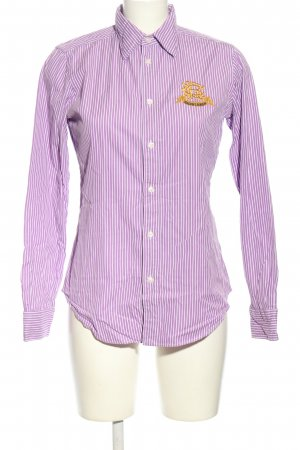 Ralph Lauren Sport Langarmhemd lila-weiß Streifenmuster Business-Look