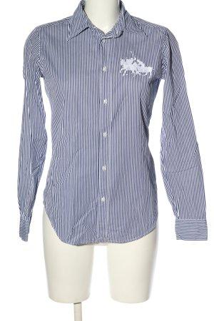 Ralph Lauren Sport Langarmhemd blau-weiß Allover-Druck Business-Look