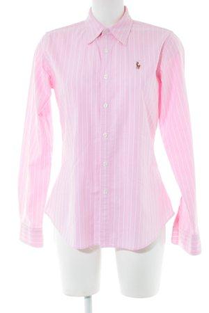 Ralph Lauren Sport Langarmhemd pink-weiß Streifenmuster Business-Look
