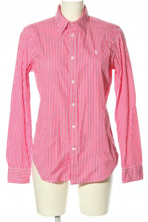 Ralph Lauren Sport Langarmhemd pink-weiß Streifenmuster Casual-Look