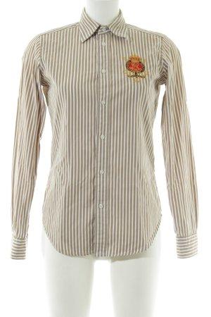 Ralph Lauren Sport Langarmhemd braun-weiß Streifenmuster Business-Look