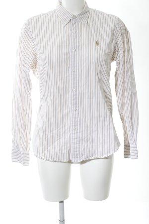 Ralph Lauren Sport Langarmhemd wollweiß Streifenmuster Business-Look