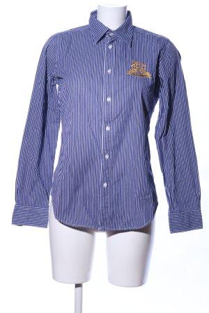 Ralph Lauren Sport Langarmhemd blau-weiß Motivdruck Business-Look
