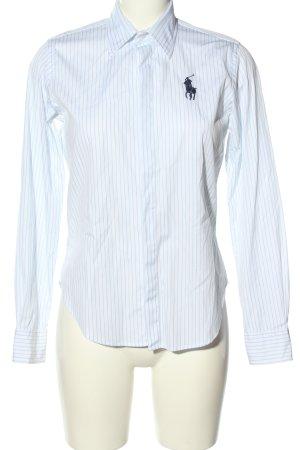 Ralph Lauren Sport Langarmhemd weiß-blau Streifenmuster Casual-Look