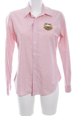 Ralph Lauren Sport Langarmhemd pink Motivdruck Business-Look