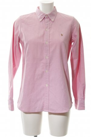 Ralph Lauren Sport Langarmhemd rosa-weiß meliert Business-Look