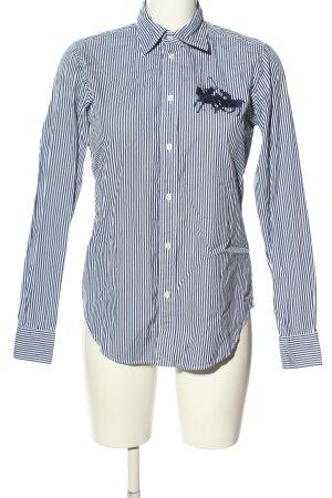 Ralph Lauren Sport Langarmhemd weiß-blau Streifenmuster Business-Look
