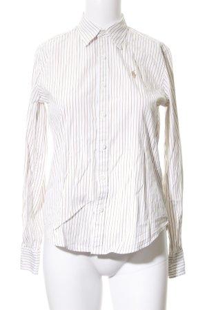 Ralph Lauren Sport Langarmhemd weiß-camel Streifenmuster Brit-Look