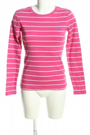 Ralph Lauren Sport Longsleeve pink-weiß Streifenmuster Casual-Look