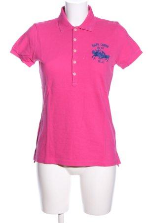 Ralph Lauren Sport Koszulka polo różowy-niebieski Wyhaftowany logo