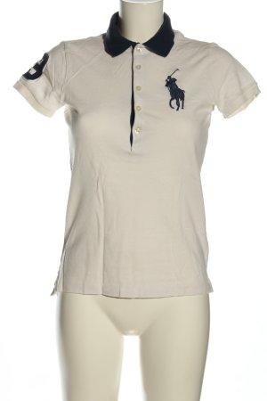 Ralph Lauren Sport Polo-Shirt wollweiß-schwarz Casual-Look