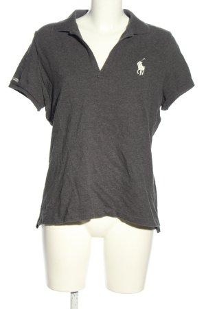 Ralph Lauren Sport Polo shirt lichtgrijs gestippeld casual uitstraling