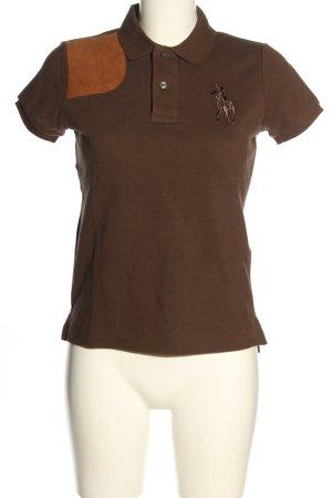 Ralph Lauren Sport Camiseta tipo polo marrón look casual