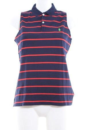 Ralph Lauren Sport Top Polo blu-rosso motivo a righe stile casual