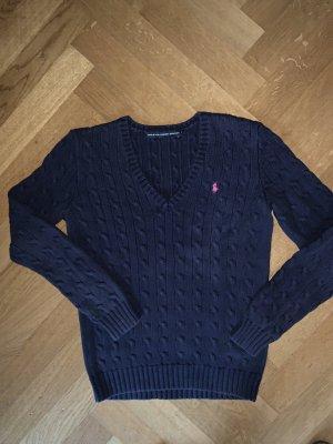 Ralph Lauren Sport Pull torsadé bleu coton