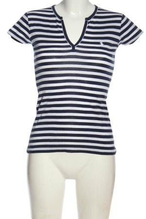 Ralph Lauren Sport Ringelshirt blau-weiß Schriftzug gestickt Casual-Look