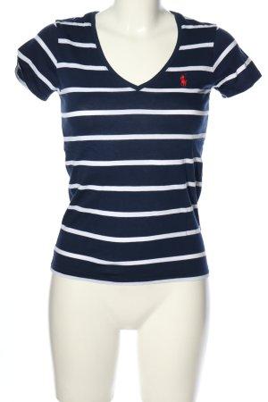 Ralph Lauren Sport Ringelshirt blau-weiß Allover-Druck Casual-Look