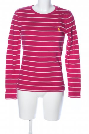 Ralph Lauren Sport Ringelshirt pink-weiß Streifenmuster Casual-Look