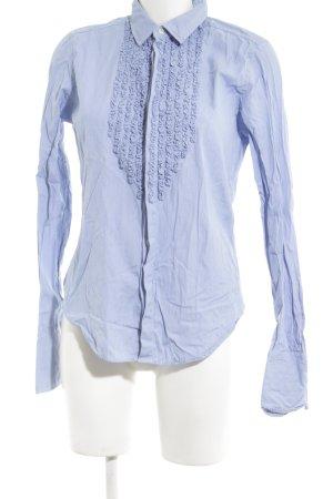 Ralph Lauren Sport Rüschen-Bluse blau Streifenmuster Business-Look