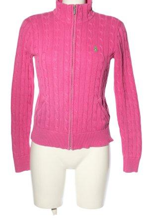Ralph Lauren Sport Strickjacke pink Zopfmuster Casual-Look