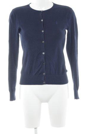 Ralph Lauren Sport Gilet tricoté bleu foncé coton