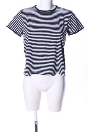 Ralph Lauren Sport T-Shirt schwarz-weiß Streifenmuster Casual-Look