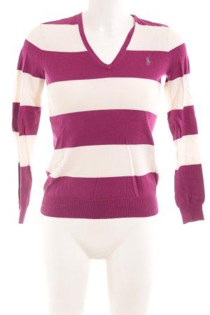 Ralph Lauren Sport V-Ausschnitt-Pullover Streifenmuster Casual-Look