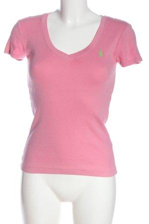 Ralph Lauren Sport V-Ausschnitt-Shirt pink Casual-Look
