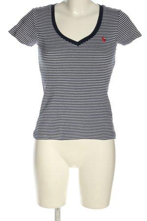 Ralph Lauren Sport V-hals shirt wit-zwart volledige print casual uitstraling