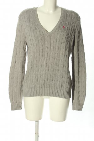 Ralph Lauren Sport Jersey trenzado gris claro punto trenzado look casual