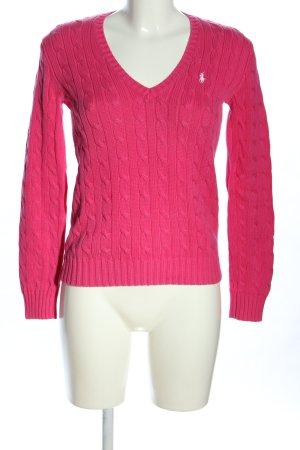 Ralph Lauren Sport Maglione intrecciato rosa stile casual
