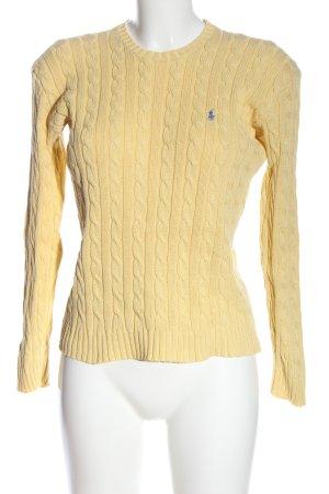 Ralph Lauren Sport Jersey trenzado amarillo pálido punto trenzado look casual