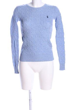 Ralph Lauren Sport Zopfpullover blau Zopfmuster Casual-Look