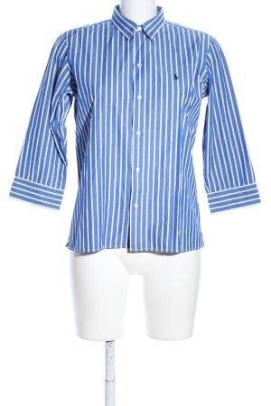 Ralph Lauren Stehkragenbluse blau-weiß Business-Look