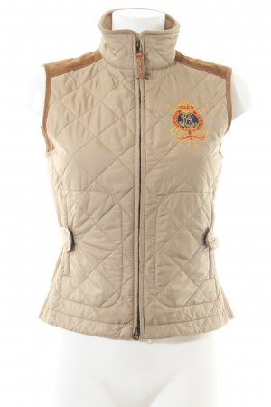 Ralph Lauren Quilted Gilet nude-light orange quilting pattern casual look