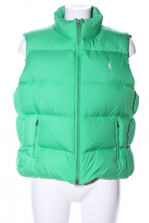 Ralph Lauren Quilted Gilet green quilting pattern casual look