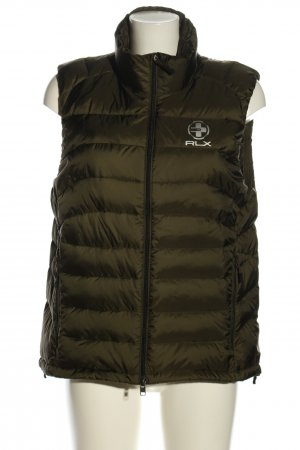 Ralph Lauren Quilted Gilet khaki printed lettering casual look