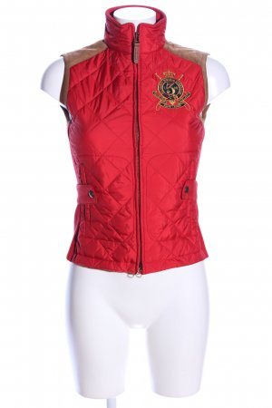 Ralph Lauren Quilted Gilet red-brown quilting pattern casual look