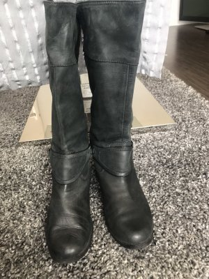 Lauren by Ralph Lauren Riding Boots grey-black leather