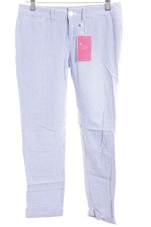 Ralph Lauren Pantalon en jersey blanc cassé-bleu azur motif rayé style marin