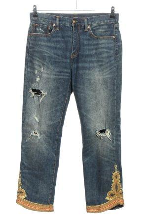 Ralph Lauren Straight-Leg Jeans blau-goldfarben Casual-Look