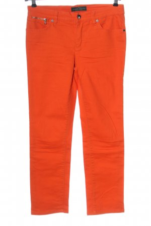 Ralph Lauren Vaquero rectos naranja claro look casual
