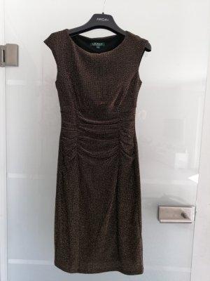 Ralph Lauren Stretch Abend cocktail Kleid schwarz gold 34