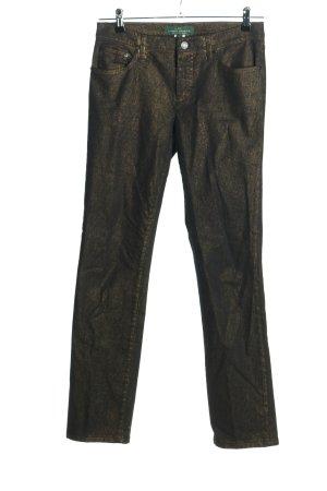 Ralph Lauren Stretch Jeans schwarz-goldfarben Casual-Look