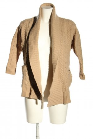 Ralph Lauren Knitted Cardigan nude cable stitch casual look