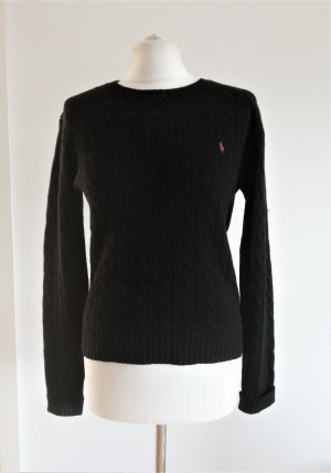 Ralph Lauren Sport Pull torsadé noir laine