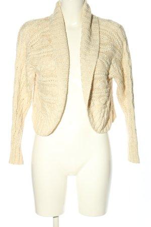 Ralph Lauren Boléro en tricot crème torsades style décontracté