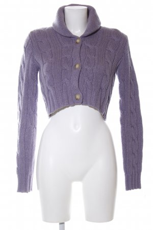 Ralph Lauren Knitted Bolero lilac cable stitch casual look