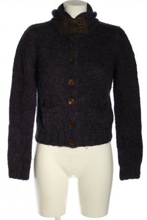 Ralph Lauren Cardigan lilac-brown cable stitch casual look