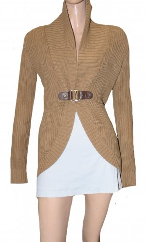 Ralph Lauren Cardigan a maglia grossa cognac Cotone